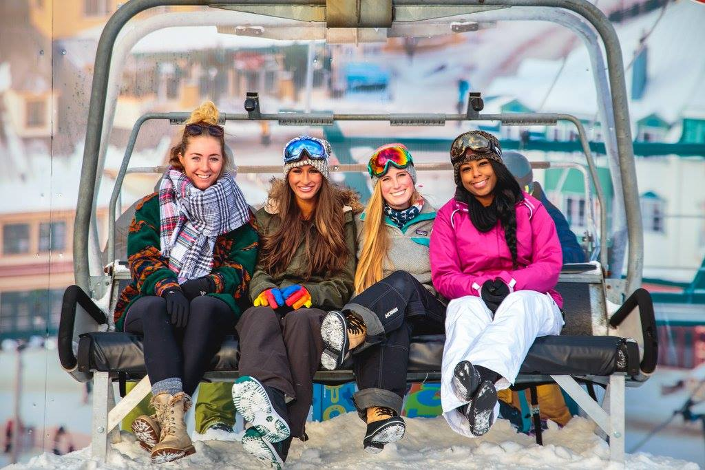 Smiles on chairlift
